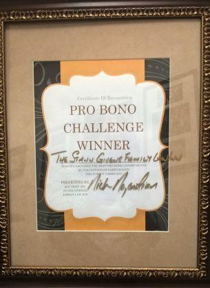 Stann Givens FL Inn- pro bono award