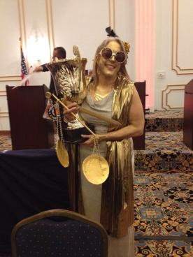 Judge Tesche with Trophy